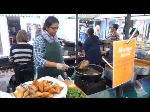 Indian Street Food - Samosa Chaat & Thalis' by Gujarati Rasoi at Broadway & Borough Markets, London.
