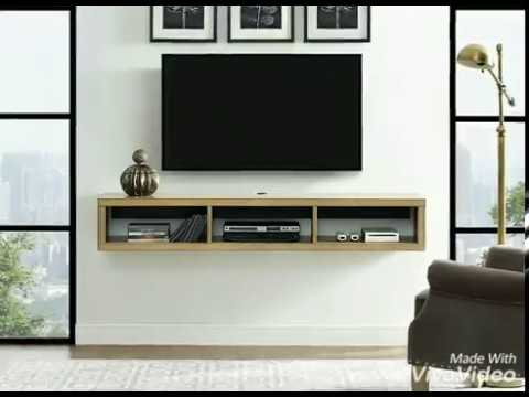 "Martin Furniture Floating TV Console, 60"" and  48"" , Burka Bark"