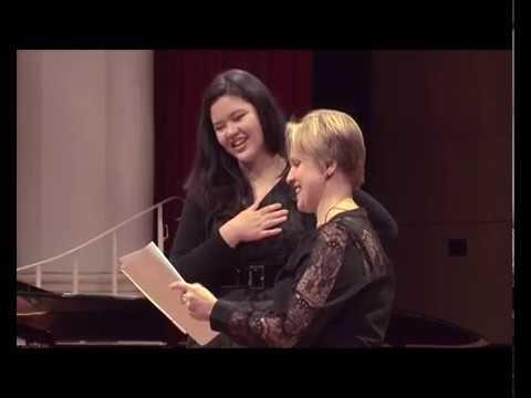 2017: Shakira Ringdahl, mezzo soprano. Masterclass with Catrin Johnsson and David Harper