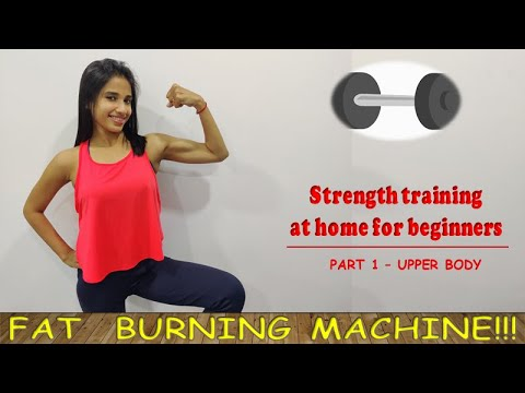 strength workout for beginners at home  part 1  upper