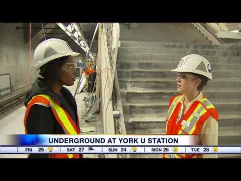Video: A sneak peek at the upcoming York U subway station