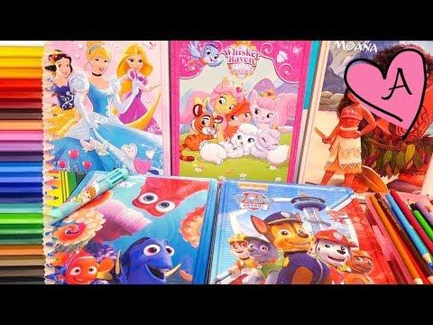 Dibujos para colorear de Princesas Disney, Patrulla canina, Moana | Muñecas y juguetes con Andre