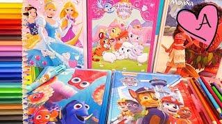 Juguetes para colorear de Palace Pets, Princesas Disney, Patrulla canina, Moana y Buscando a Dory