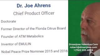 Dr Joseph Ahrens Nobel Prize Nominee With Valentus
