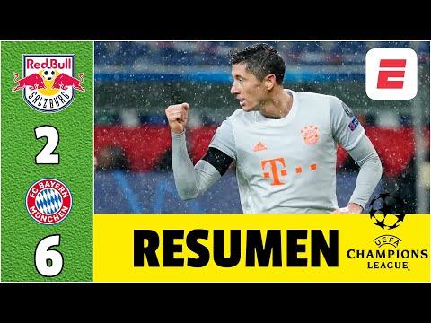 Salzburg 2-6 Bayern Munich. DOBLETE de Lewandowski. 4 en los últimos 10 minutos   Champions League