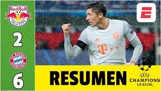 Salzburg 2-6 Bayern Munich. DOBLETE de Lewandowski. 4 en los últimos 10 minutos | Champions League