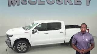 190266 New 2019 Chevrolet Silverado 1500 LTZ 4WD Crew Cab White Test Drive, Review, For Sale -