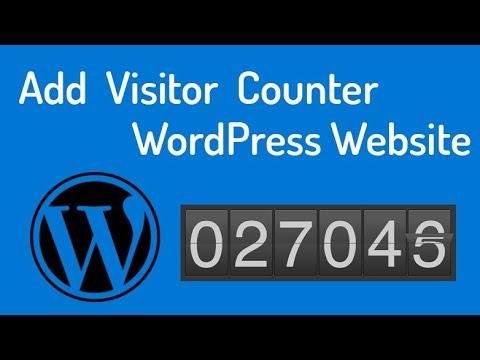 WordPress visit counter
