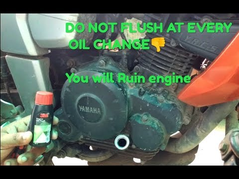 FZ 16 Engine oil  flush  using 3M.How to Flush the engine ??