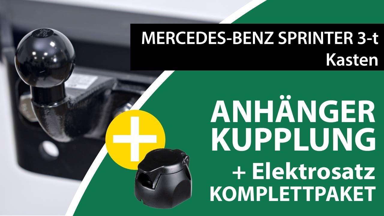 Steinhof Solide Anh/ängerkupplung starr mit universalem E-Satz 13-polig ABE
