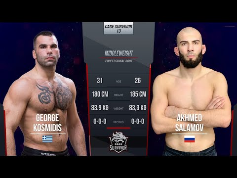Cage Survivor 13: George Kosmidis vs. Akhmed Salamov Full Fight
