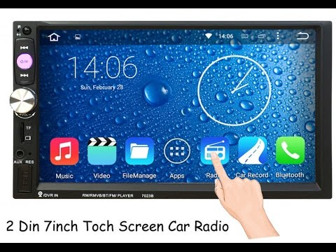 2DIN магнитола на Android из Китая Обзор - YouTube