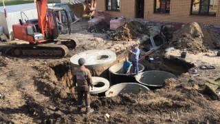 Септик из бетонных колец под ключ!(ТПФ Калина - установка септиков и выгребных ям любой сложности из бетонных колец любого объема http://septik-omsk.ru/, 2016-05-24T18:46:31.000Z)