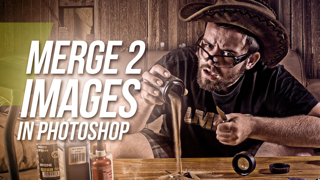 How To Merge Two Images In Photoshop | FunnyDog.TV