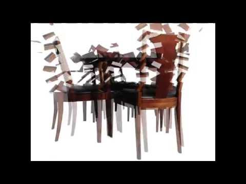 Nice MID CENTURY FURNITURE 4 LESS.COM MID CENTURY EXTENSION DINING TABLE W/3  LEAVES AND 4 CHAIRS