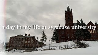 a day in my life at syracuse university 🍊
