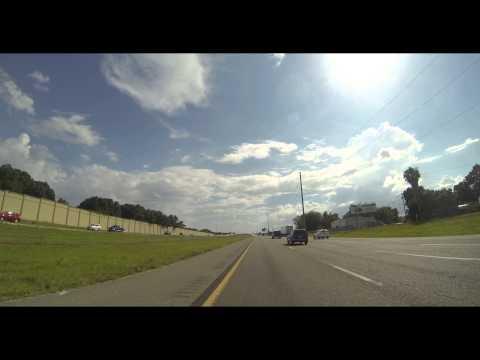 Southbound On I-4 From Hwy 528 In Orlando, FL To I-275 In Tampa, FL (GoPro 4K)(2015-05-25)
