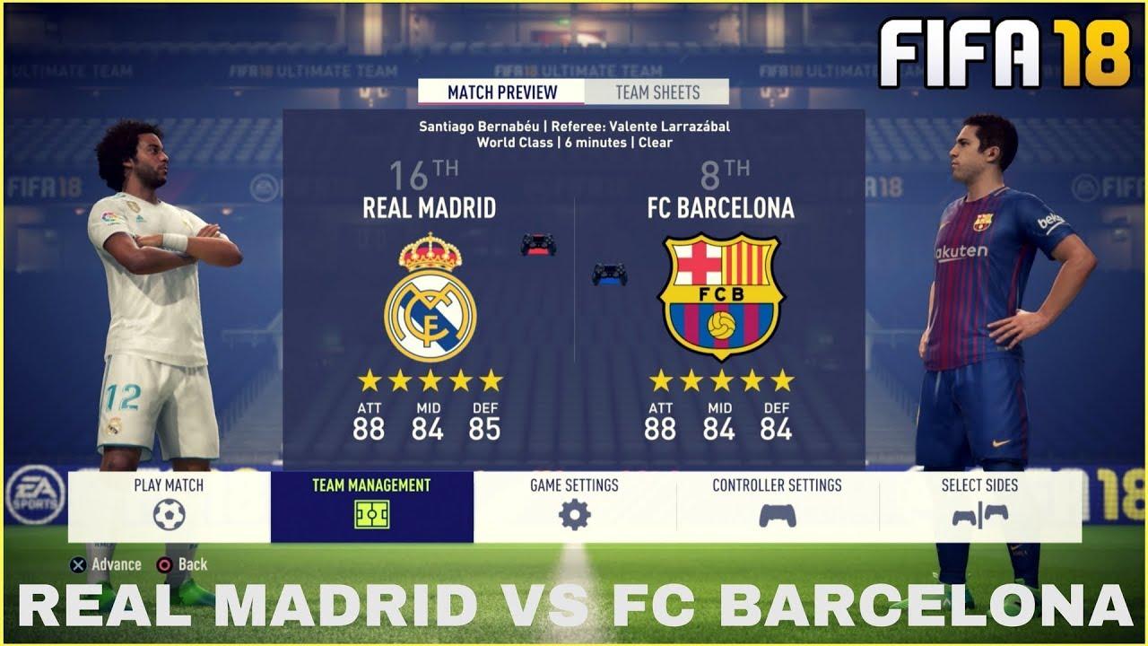 Real Madrid Vs Fc Barcelona Youtube