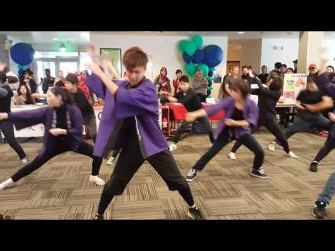 Japanese dancing in Tacoma Community College