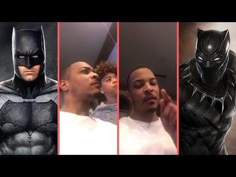 """Rapper T.I. Gets Into A """"DC vs. Marvel"""" Debate With His Kids Debates Black Panther , Batman and More"""