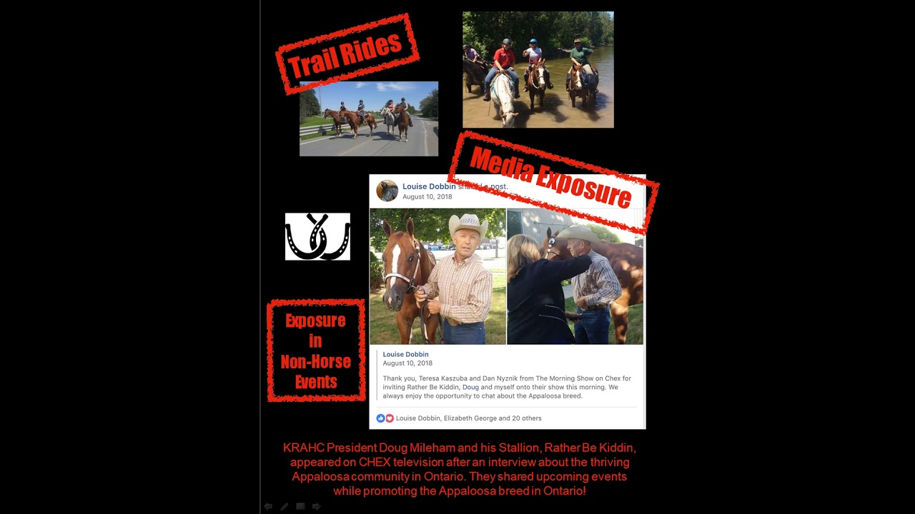 2018 Kawartha Regional Appaloosa Horse Club Scrapbook