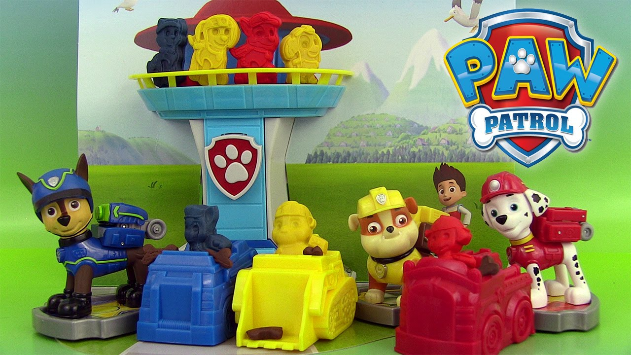 paw patrol play doh mold playset pat 39 patrouille p te modeler patrulla de cachorros youtube. Black Bedroom Furniture Sets. Home Design Ideas