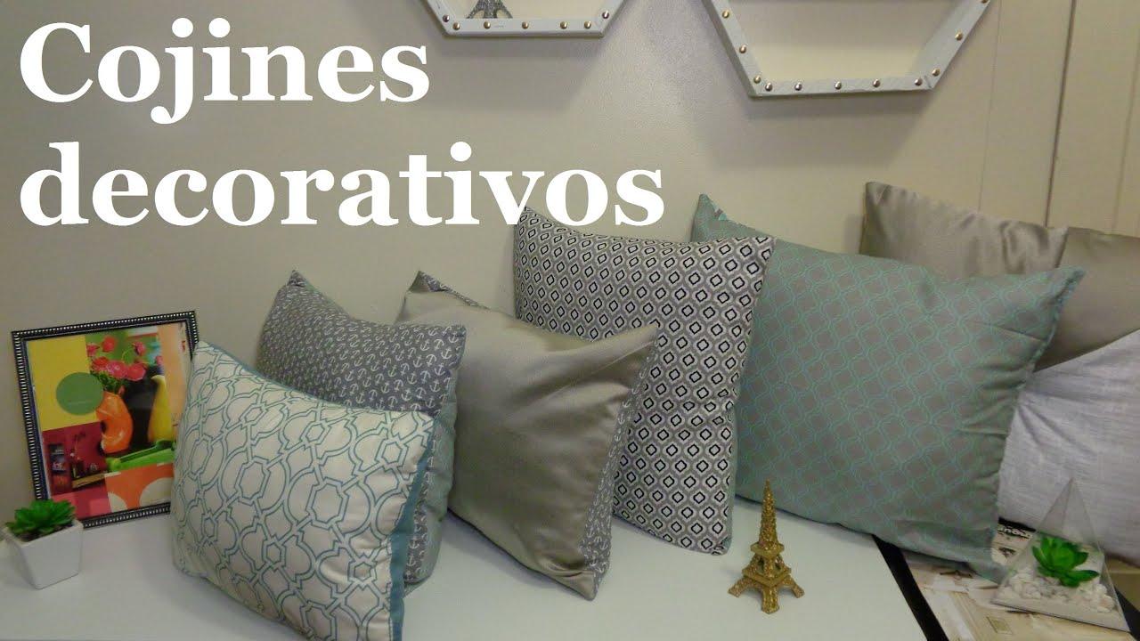 Cojines decorativos recicla almohadas viejas youtube - Decoracion cojines ...