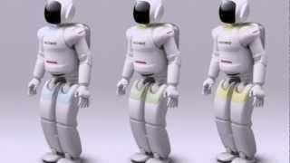 Робот Asimo от Honda развлекает гостей автосалона  в Москве