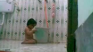 baby bhavya bathing.mp4