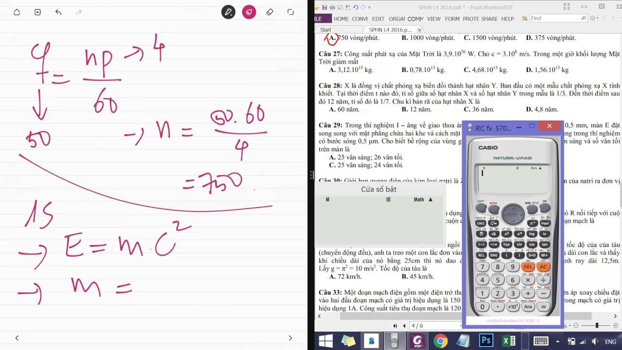 Giải chi tiết đề thi thử ĐH môn vật lý – chuyên ĐH Sư Phạm Hà Nội – Lần 4 – 2016 [Full HD]