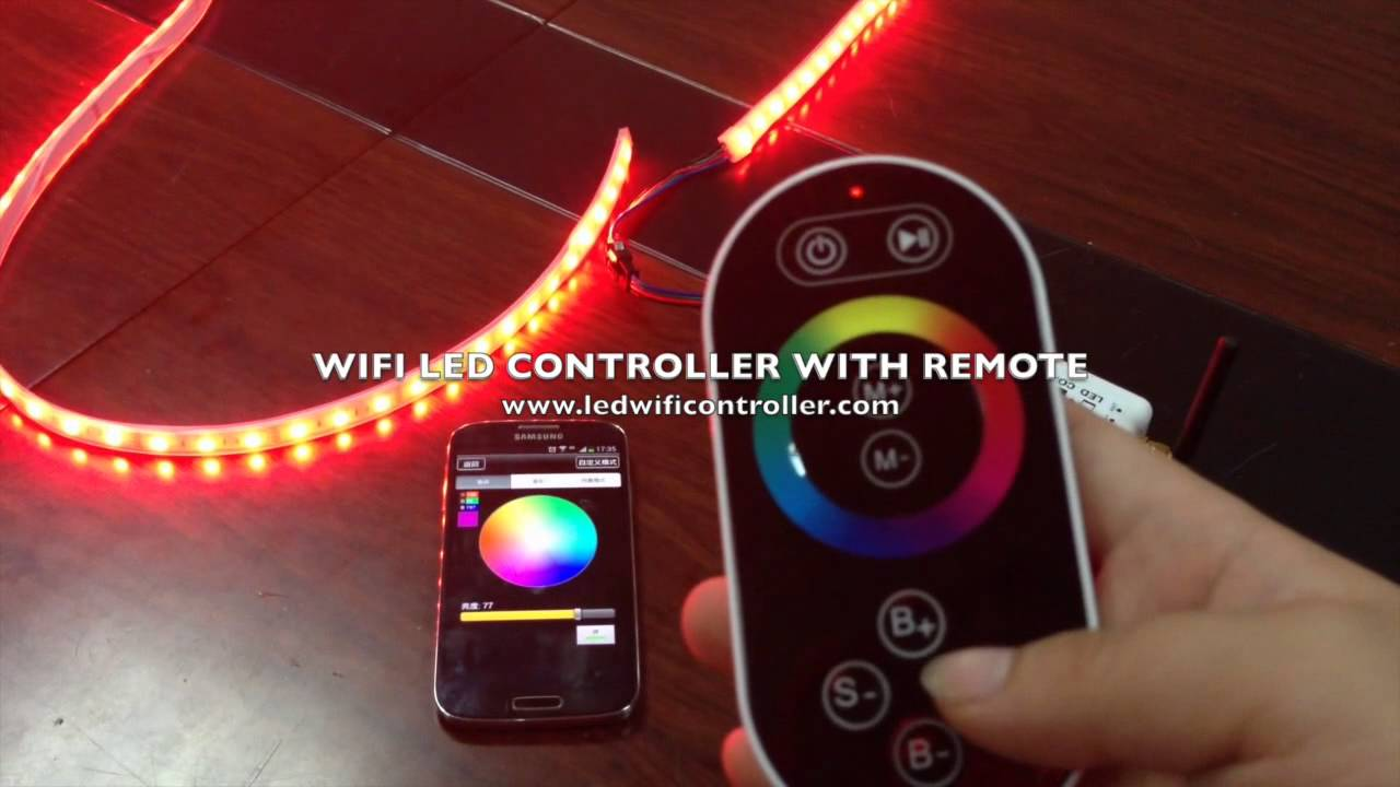 Wifi Rgb Controller Led Strip With Both Remote And Smartphone Control Instruction