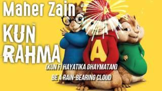 Maher Zain - Kun Rahma (Chipmunk Version) | VOCALS ONLY | LYRICS VIDEO | ماهر زين - كن رحمة
