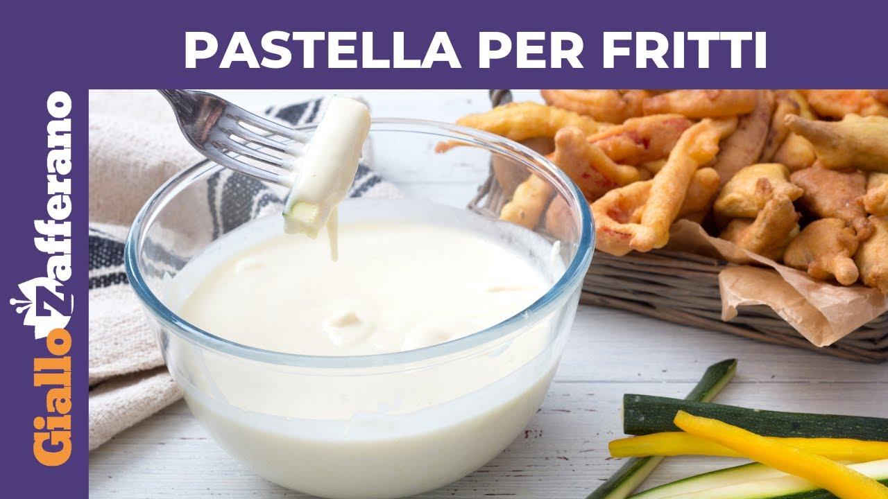 Fiori Fritti Giallo Zafferano.Pastella Per Fritti Ricetta Perfetta Youtube