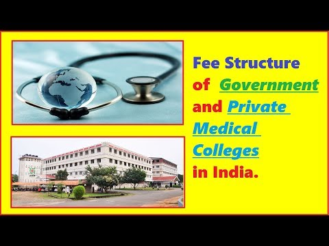 Fee Structure of Government and Private Medical Colleges in