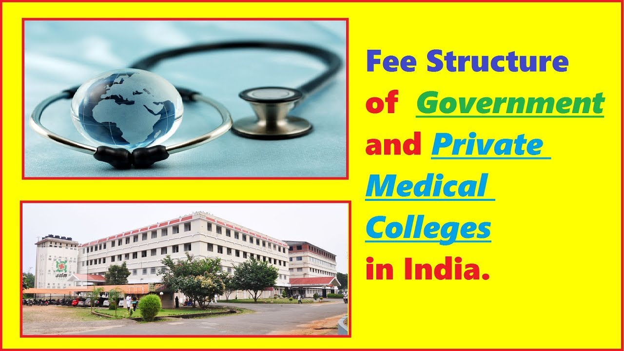Fee Structure of Government and Private Medical Colleges in India