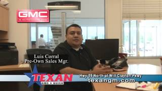 Texan Buick GMC Sales Manager Luis Corral