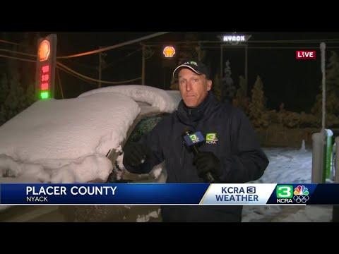 Sierra snow, rain impacts early morning drivers