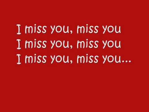 I Miss You with lyrics