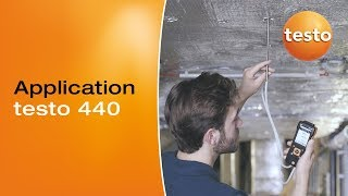Volume flow measurement in ducts with the testo 440 | Be sure. Testo