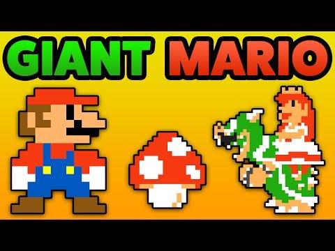 Super Mario Maker - GIANT MARIO! - BIG Mushroom Showcase [Amiibo]