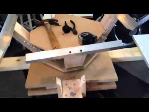 14fc37643 Diy 4 color 4 station screen printing press. - YouTube