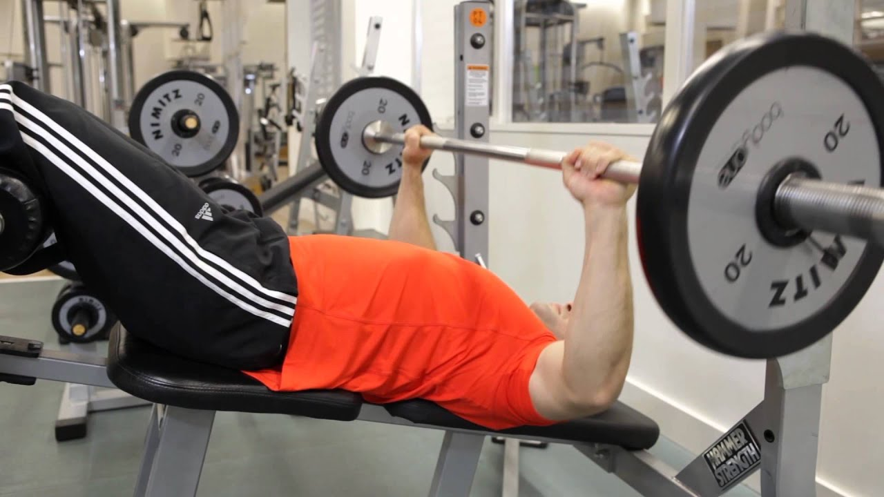 Decline Barbell Bench Press - Chest Exercise
