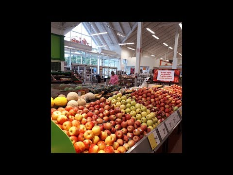 Doing Groceries At Atlantic Super Store, Sydney, Nova Scotia, Canada