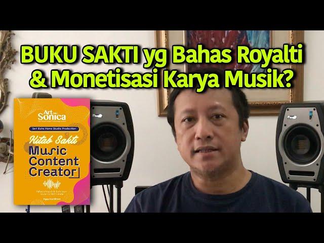Buku KITAB SAKTI MUSIC CONTENT CREATOR yg Bahas Royalti & Monetisasi + Proses Bikin Karya Musik !!!