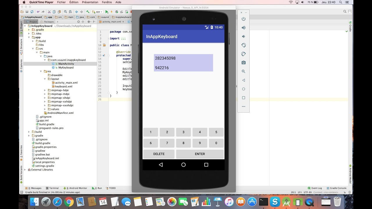 Creating an In-App Keyboard for your Android Apps - Sylvain Saurel