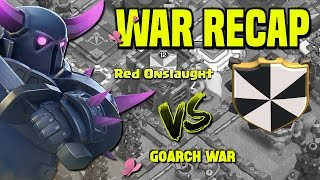 Clash of Clans | War Recap | Red Onslaught vs. GoArCh War | 400th War Win | October 16