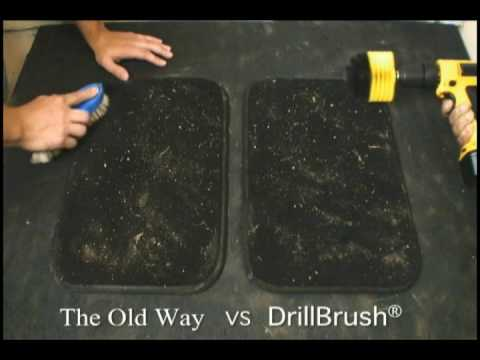 how to clean car carpet with the drill brush youtube. Black Bedroom Furniture Sets. Home Design Ideas