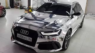 Хром пленка + карбоновые детали Audi RS6