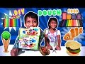 Play Doh Burger Hot Dog Fried Chicken Noodles French Fry Making Diy Fun for Kids