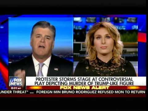 Laura Loomer speaking about the protest on Hannity​